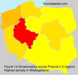 Surname Gmachowska in Poland