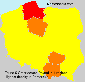 Surname Gmer in Poland