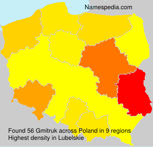 Surname Gmitruk in Poland
