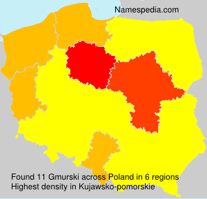 Surname Gmurski in Poland