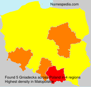 Surname Gniadecka in Poland