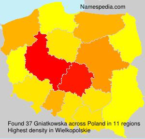 Surname Gniatkowska in Poland