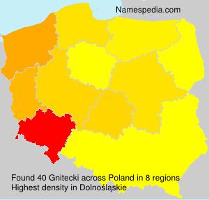 Surname Gnitecki in Poland