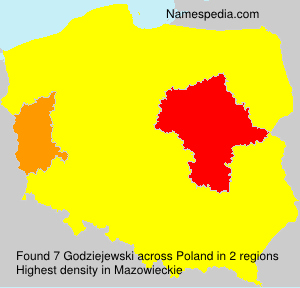 Surname Godziejewski in Poland