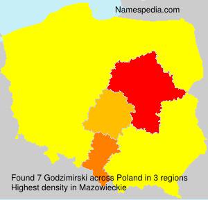 Surname Godzimirski in Poland