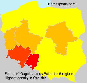 Familiennamen Gogala - Poland