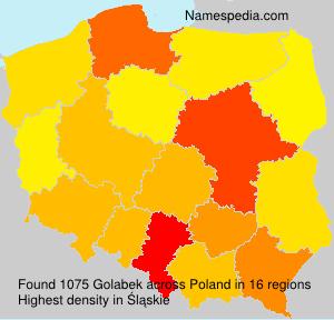 Familiennamen Golabek - Poland