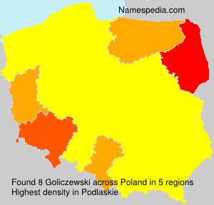 Surname Goliczewski in Poland