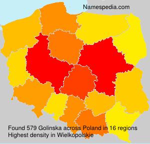 Familiennamen Golinska - Poland