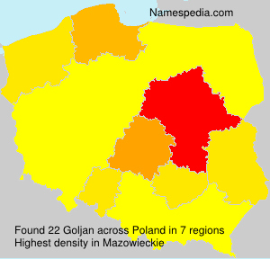 Surname Goljan in Poland