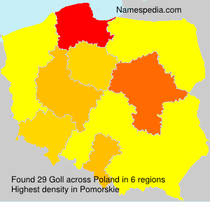 Surname Goll in Poland