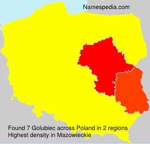 Surname Golubiec in Poland
