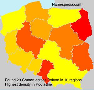 Surname Goman in Poland