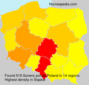 Surname Gonera in Poland
