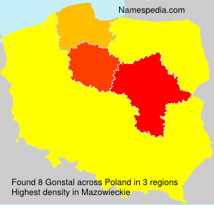 Surname Gonstal in Poland