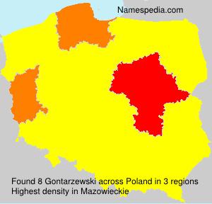 Surname Gontarzewski in Poland