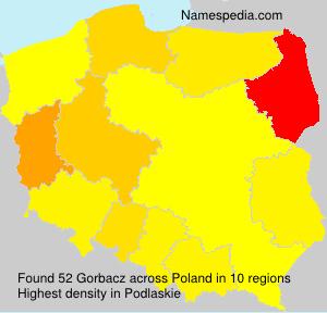 Surname Gorbacz in Poland