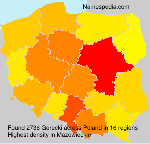 Surname Gorecki in Poland
