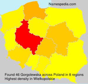 Surname Gorgolewska in Poland