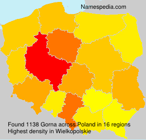 Surname Gorna in Poland