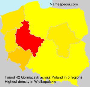 Surname Gorniaczyk in Poland