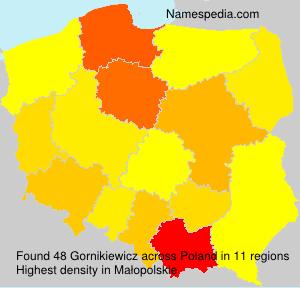 Familiennamen Gornikiewicz - Poland