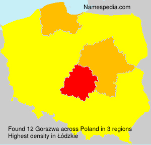 Surname Gorszwa in Poland