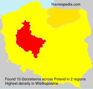 Surname Gorzelanna in Poland