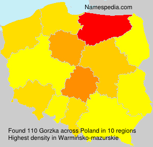Surname Gorzka in Poland