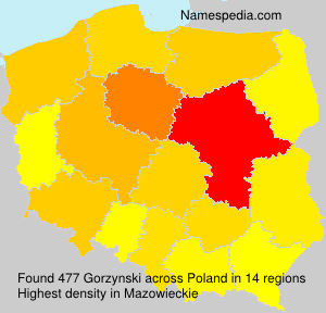 Surname Gorzynski in Poland