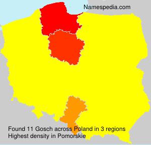 Surname Gosch in Poland