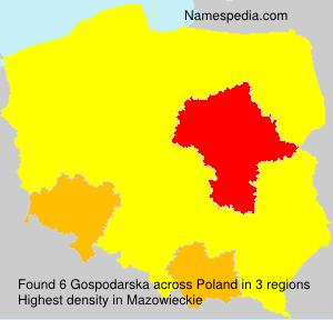 Familiennamen Gospodarska - Poland