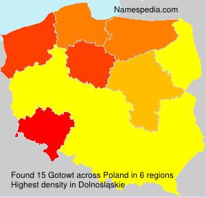 Familiennamen Gotowt - Poland