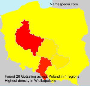 Surname Gotszling in Poland