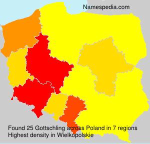Familiennamen Gottschling - Poland