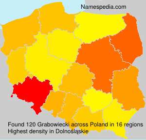 Surname Grabowiecki in Poland