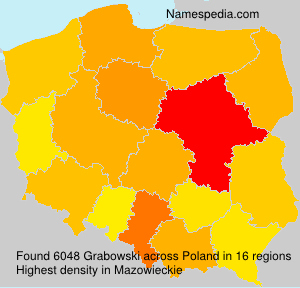 Surname Grabowski in Poland