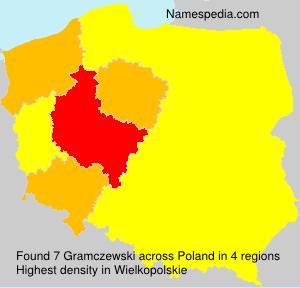 Surname Gramczewski in Poland