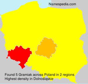 Familiennamen Gramiak - Poland