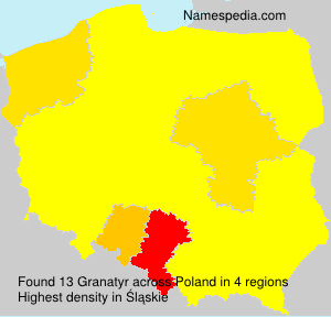 Familiennamen Granatyr - Poland