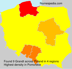 Surname Grandt in Poland