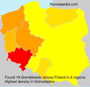 Surname Gremblewski in Poland