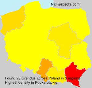 Familiennamen Grendus - Poland