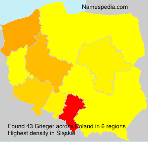 Surname Grieger in Poland