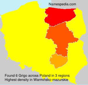 Surname Grigo in Poland