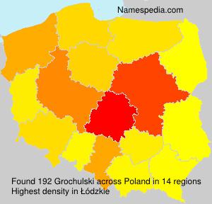Familiennamen Grochulski - Poland