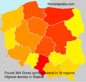 Surname Gross in Poland