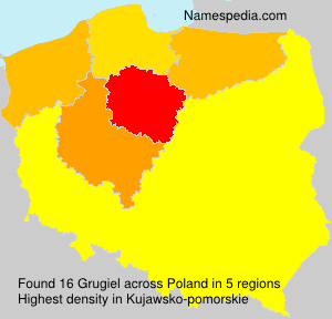 Surname Grugiel in Poland