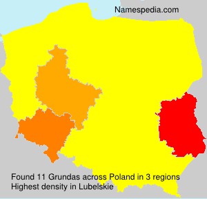 Surname Grundas in Poland