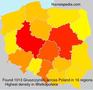 Familiennamen Gruszczynski - Poland